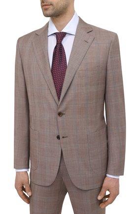 Мужской шерстяной костюм ZILLI коричневого цвета, арт. MMV-P1241Z1-10113/0001 | Фото 2