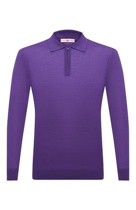 Мужское шерстяное поло LUCIANO BARBERA фиолетового цвета, арт. 109877/53214/58-62 | Фото 1