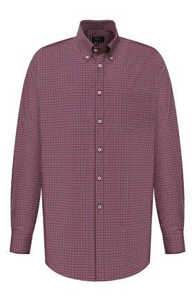 Мужская хлопковая рубашка PAUL&SHARK красного цвета, арт. 21413432/C00 | Фото 1