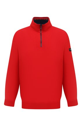 Мужской хлопковый джемпер PAUL&SHARK красного цвета, арт. 21411602/C00/3XL-6XL | Фото 1