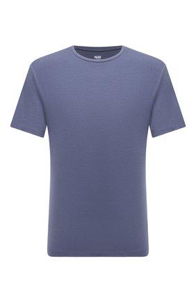 Мужская футболка из хлопка и вискозы PAIGE синего цвета, арт. M689E12-3573 | Фото 1 (Материал внешний: Вискоза, Хлопок; Рукава: Короткие; Длина (для топов): Стандартные; Принт: Без принта; Стили: Кэжуэл)