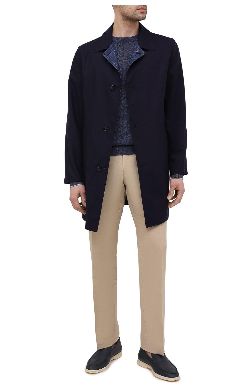 Мужской двусторонний плащ KITON темно-синего цвета, арт. UW0852CV07T80 | Фото 2 (Мужское Кросс-КТ: Плащ-верхняя одежда; Материал внешний: Шерсть, Шелк, Кашемир; Материал утеплителя: Шерсть; Рукава: Длинные; Длина (верхняя одежда): До середины бедра; Стили: Классический)