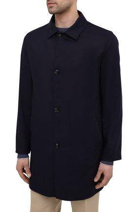 Мужской двусторонний плащ KITON темно-синего цвета, арт. UW0852CV07T80 | Фото 3 (Мужское Кросс-КТ: Плащ-верхняя одежда; Материал внешний: Шерсть, Шелк, Кашемир; Материал утеплителя: Шерсть; Рукава: Длинные; Длина (верхняя одежда): До середины бедра; Стили: Классический)