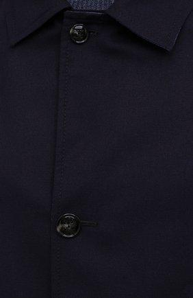 Мужской двусторонний плащ KITON темно-синего цвета, арт. UW0852CV07T80 | Фото 5 (Мужское Кросс-КТ: Плащ-верхняя одежда; Материал внешний: Шерсть, Шелк, Кашемир; Материал утеплителя: Шерсть; Рукава: Длинные; Длина (верхняя одежда): До середины бедра; Стили: Классический)
