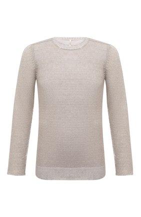 Мужской свитер из хлопка и льна TRANSIT бежевого цвета, арт. CFUTRN11460 | Фото 1