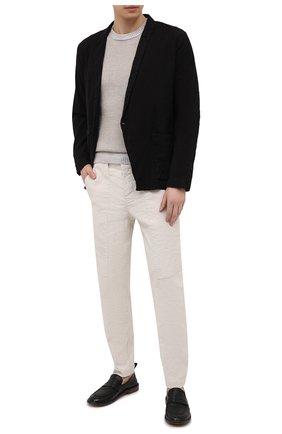 Мужской свитер из хлопка и льна TRANSIT бежевого цвета, арт. CFUTRN11460 | Фото 2