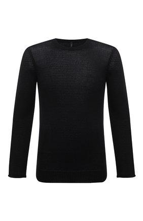 Мужской свитер из хлопка и льна TRANSIT черного цвета, арт. CFUTRN11460 | Фото 1