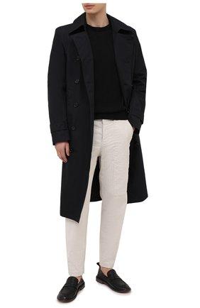 Мужской свитер из хлопка и льна TRANSIT черного цвета, арт. CFUTRN11460 | Фото 2