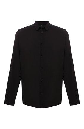 Мужская хлопковая рубашка TRANSIT черного цвета, арт. CFUTRNU300 | Фото 1