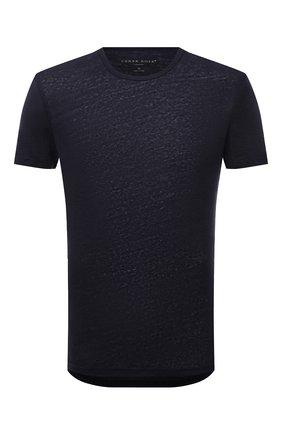 Мужская льняная футболка DEREK ROSE темно-синего цвета, арт. 3163-J0RD002 | Фото 1