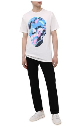 Мужская хлопковая футболка RELIGION белого цвета, арт. 11BNSN96   Фото 2