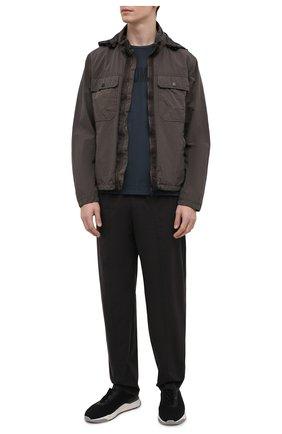 Мужская куртка Z ZEGNA хаки цвета, арт. VW054/ZZ045 | Фото 2 (Материал внешний: Синтетический материал; Материал подклада: Синтетический материал; Рукава: Длинные; Длина (верхняя одежда): Короткие; Кросс-КТ: Куртка, Ветровка; Стили: Кэжуэл, Милитари)
