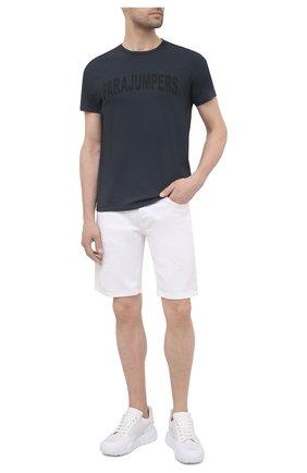 Мужская хлопковая футболка PARAJUMPERS темно-серого цвета, арт. TS21/PARAJUMPERS TEE CRK   Фото 2 (Материал внешний: Хлопок; Длина (для топов): Стандартные; Рукава: Короткие; Стили: Кэжуэл; Принт: С принтом)