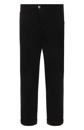 Мужские хлопковые брюки ANDREA YA'AQOV черного цвета, арт. 21MBYR19 | Фото 1