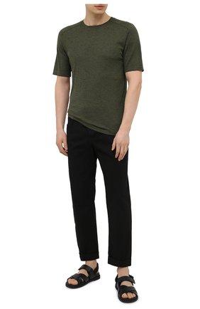 Мужские хлопковые брюки ANDREA YA'AQOV черного цвета, арт. 21MBYR19 | Фото 2