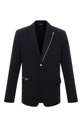 Мужской пиджак ANDREA YA'AQOV черного цвета, арт. 21MFAB28 | Фото 1
