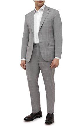 Мужской шерстяной костюм BRIONI серого цвета, арт. RA0B0T/P0A08/PRE C0UTURE | Фото 1