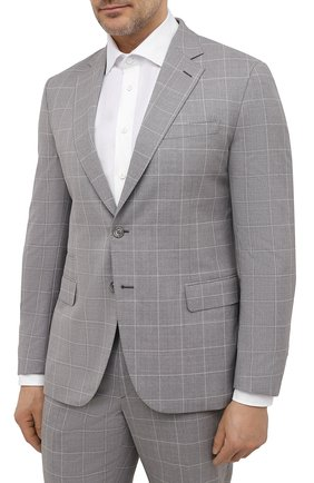Мужской шерстяной костюм BRIONI серого цвета, арт. RA0B0T/P0A08/PRE C0UTURE | Фото 2