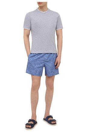 Мужские плавки-шорты LORO PIANA синего цвета, арт. FAL6416 | Фото 2