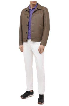 Мужское хлопковое поло SVEVO сиреневого цвета, арт. 82164SE21/MP0002 | Фото 2