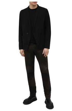 Мужской хлопковый джемпер TRANSIT черного цвета, арт. CFUTRN7420 | Фото 2
