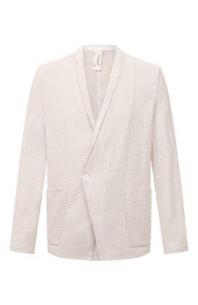 Мужской пиджак из хлопка и льна TRANSIT бежевого цвета, арт. CFUTRNH171 | Фото 1