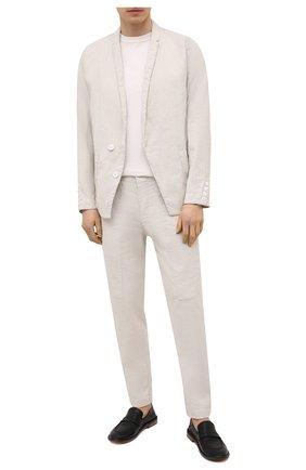 Мужской пиджак из хлопка и льна TRANSIT бежевого цвета, арт. CFUTRNH171 | Фото 2