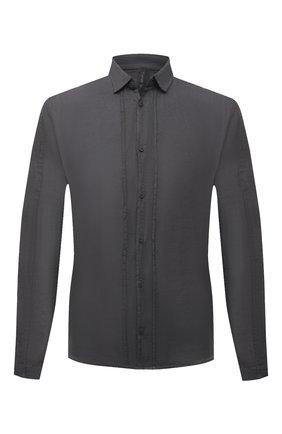 Мужская льняная рубашка TRANSIT темно-серого цвета, арт. CFUTRNV310 | Фото 1