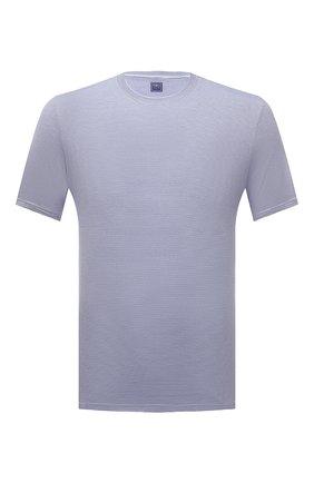 Мужская хлопковая футболка FEDELI синего цвета, арт. 4UE04267 | Фото 1