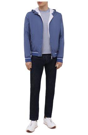Мужская хлопковая футболка FEDELI синего цвета, арт. 4UE04267 | Фото 2
