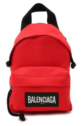Мужская текстильная сумка explorer BALENCIAGA красного цвета, арт. 656060/2JMRX | Фото 1 (Ремень/цепочка: На ремешке; Материал: Текстиль)