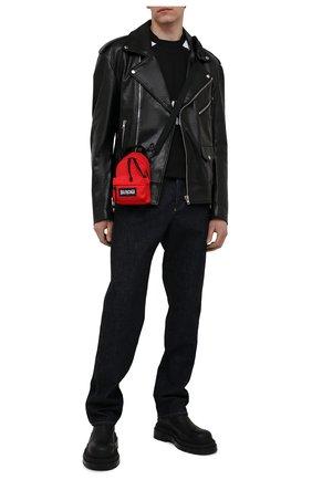 Мужская текстильная сумка explorer BALENCIAGA красного цвета, арт. 656060/2JMRX | Фото 2 (Ремень/цепочка: На ремешке; Материал: Текстиль)