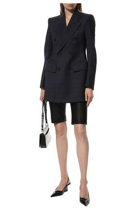 Женский шерстяной жакет BALENCIAGA синего цвета, арт. 571279/TKT12 | Фото 2