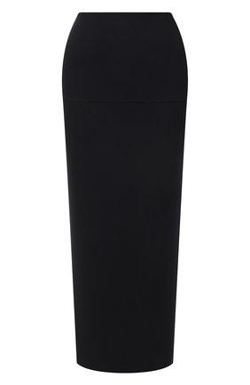 Женская юбка JIL SANDER черного цвета, арт. JSWS754328-WSY45018 | Фото 1 (Длина Ж (юбки, платья, шорты): Миди; Материал внешний: Вискоза, Синтетический материал; Женское Кросс-КТ: Юбка-одежда; Стили: Кэжуэл)