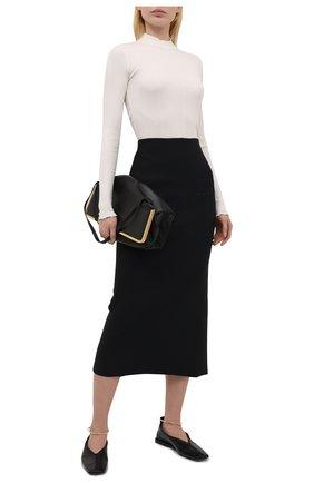 Женская юбка JIL SANDER черного цвета, арт. JSWS754328-WSY45018 | Фото 2