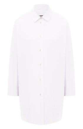 Женская хлопковая рубашка JIL SANDER белого цвета, арт. JSWS606905-WS244200 | Фото 1