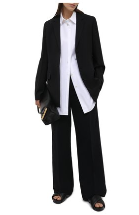 Женская хлопковая рубашка JIL SANDER белого цвета, арт. JSWS606905-WS244200 | Фото 2