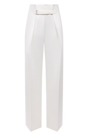 Женские брюки из хлопка и шелка JIL SANDER белого цвета, арт. JSWS305005-WS251400 | Фото 1