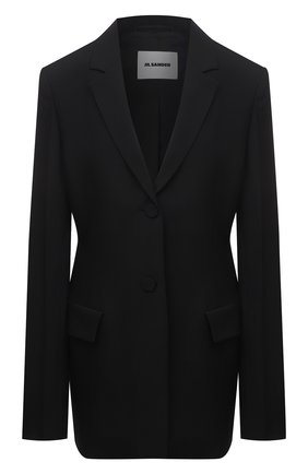 Женский шерстяной жакет JIL SANDER черного цвета, арт. JSWS135610-WS211600 | Фото 1