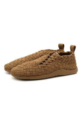 Мужские текстильные кроссовки BOTTEGA VENETA коричневого цвета, арт. 651306/V0GV1   Фото 1