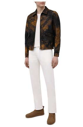 Мужские текстильные кроссовки BOTTEGA VENETA коричневого цвета, арт. 651306/V0GV1   Фото 2