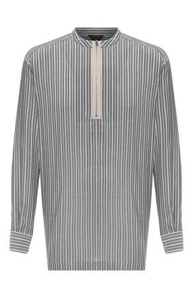 Мужская шелковая рубашка ZEGNA COUTURE серого цвета, арт. 902380/9NGZVF | Фото 1