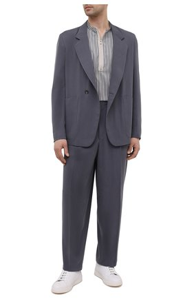 Мужская шелковая рубашка ZEGNA COUTURE серого цвета, арт. 902380/9NGZVF | Фото 2