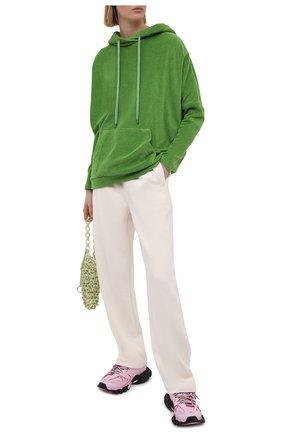 Женские брюки GANNI бежевого цвета, арт. T2774 | Фото 2