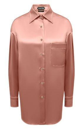 Женская шелковая рубашка TOM FORD розового цвета, арт. CA3189-FAX824 | Фото 1