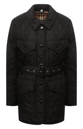 Женская стеганая куртка BURBERRY черного цвета, арт. 8034122 | Фото 1