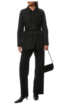 Женская стеганая куртка BURBERRY черного цвета, арт. 8034122 | Фото 2