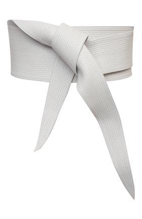 Женский кожаный пояс GIORGIO ARMANI белого цвета, арт. Y1I251/YQA3Y | Фото 1 (Кросс-КТ: Широкие)