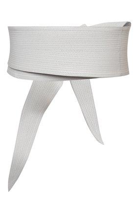 Женский кожаный пояс GIORGIO ARMANI белого цвета, арт. Y1I251/YQA3Y | Фото 2 (Кросс-КТ: Широкие)
