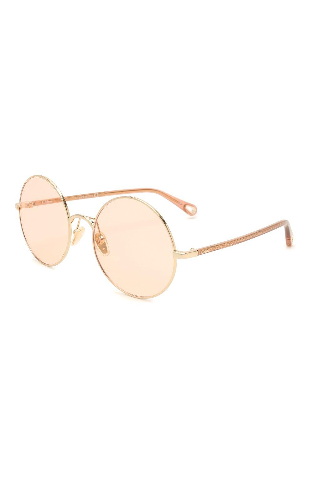 Женские солнцезащитные очки CHLOÉ коричневого цвета, арт. CH0042S | Фото 1